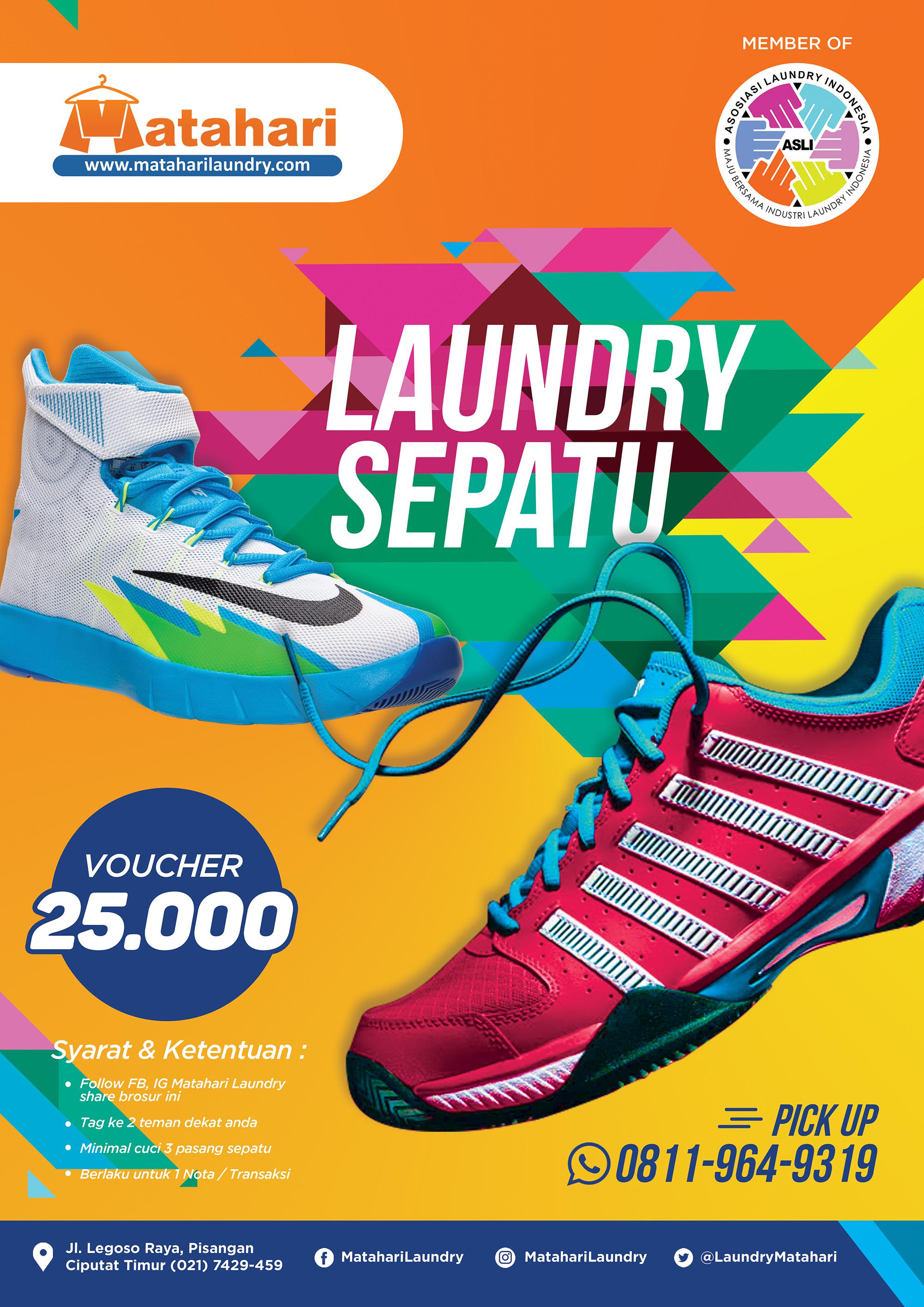 PROMO Laundry Sepatu Di Matahari Laundry