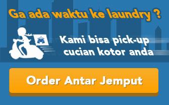 Banner Laundry antar jemput ciputat