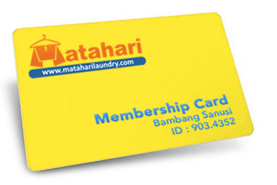 mebership card matahari laundry